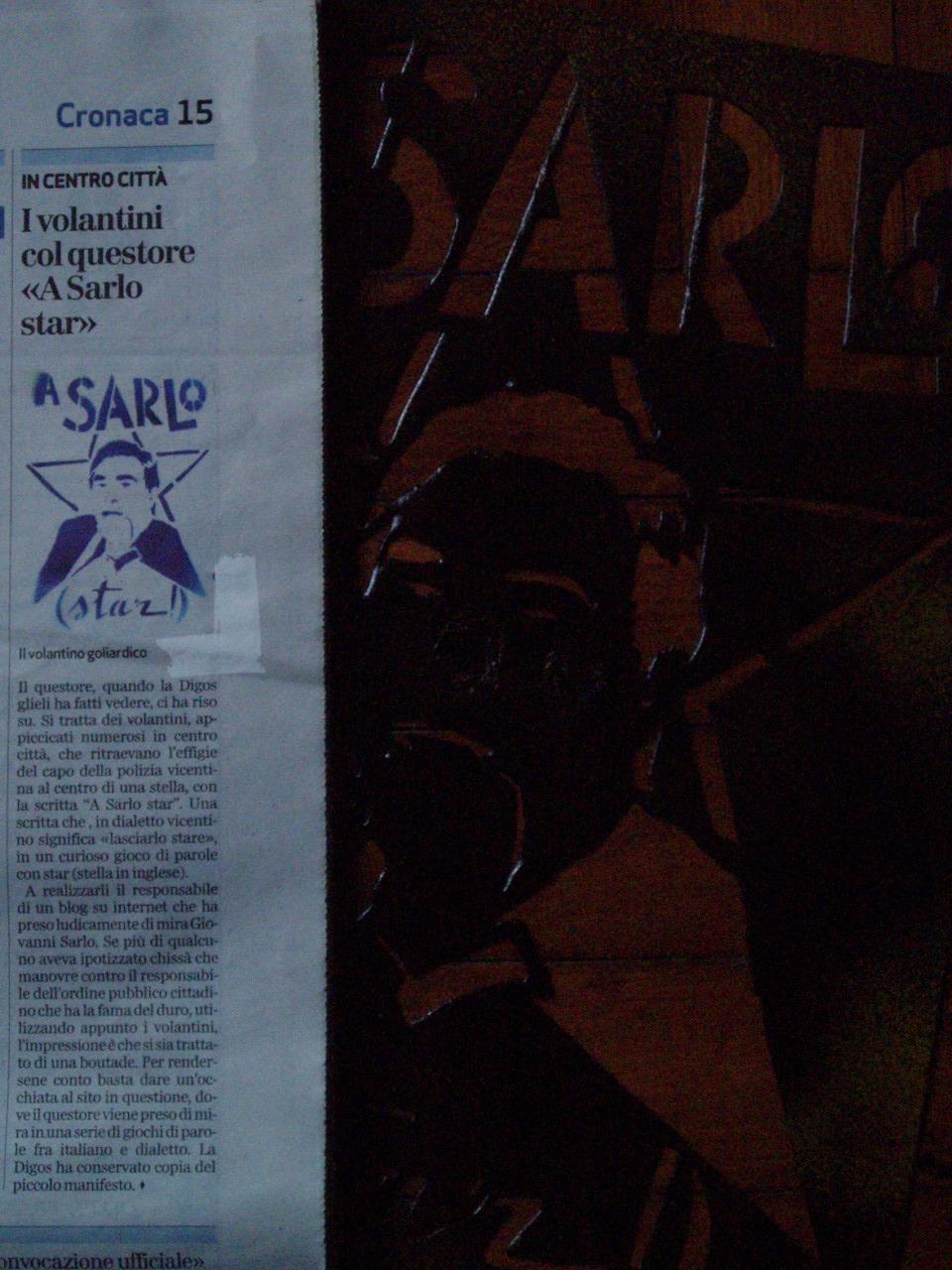articolo giornale di vicenza sarlo star a no dal molin giovedi 7 febbraio 2008 lavori pirate stencil