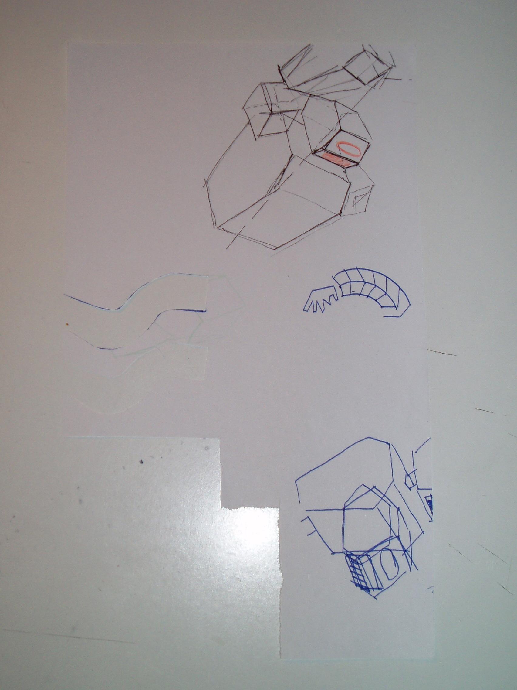 robot tecnology carta cartone disegni scritte carta pesta bomboletta spray