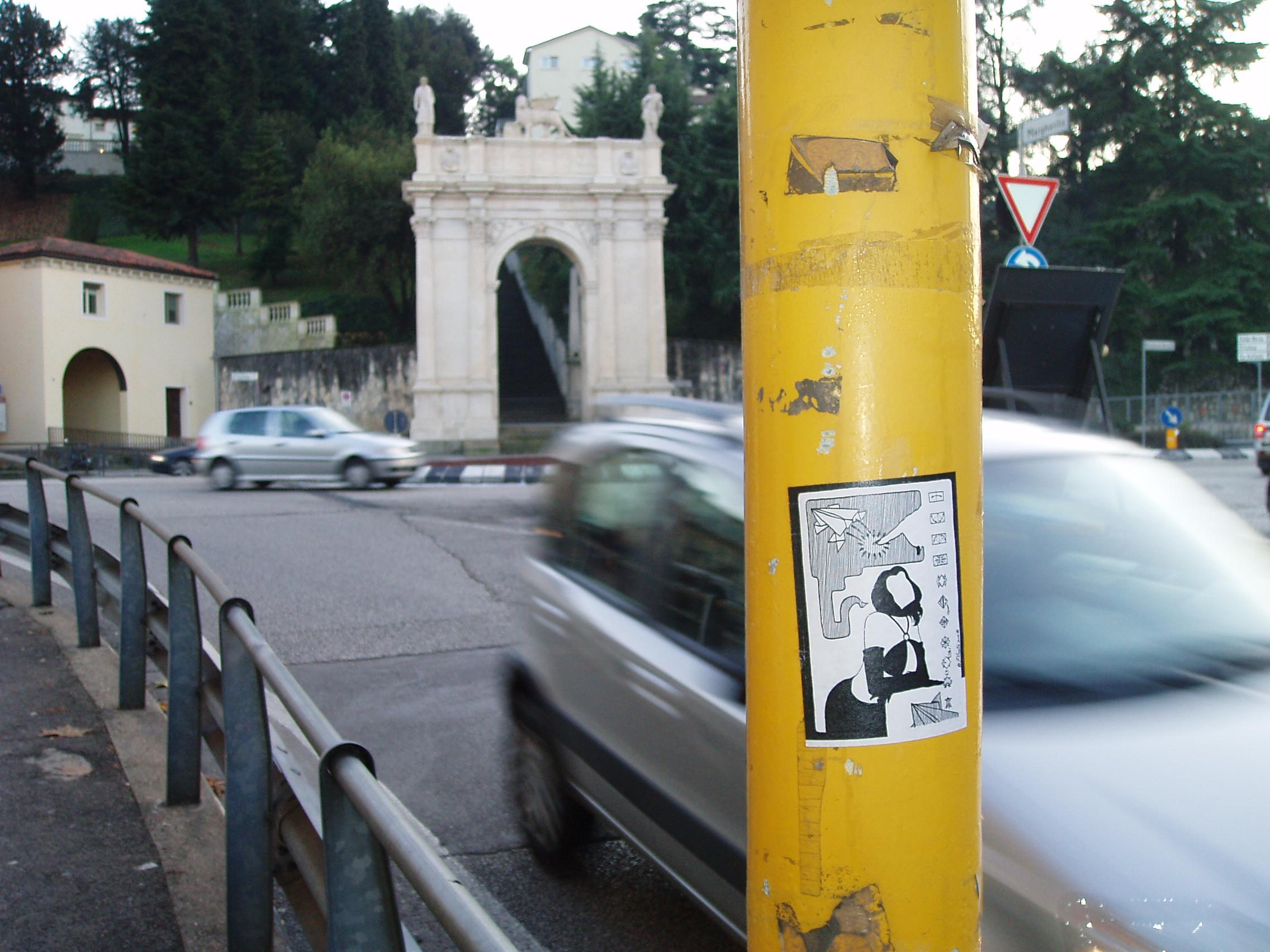 sticker street art